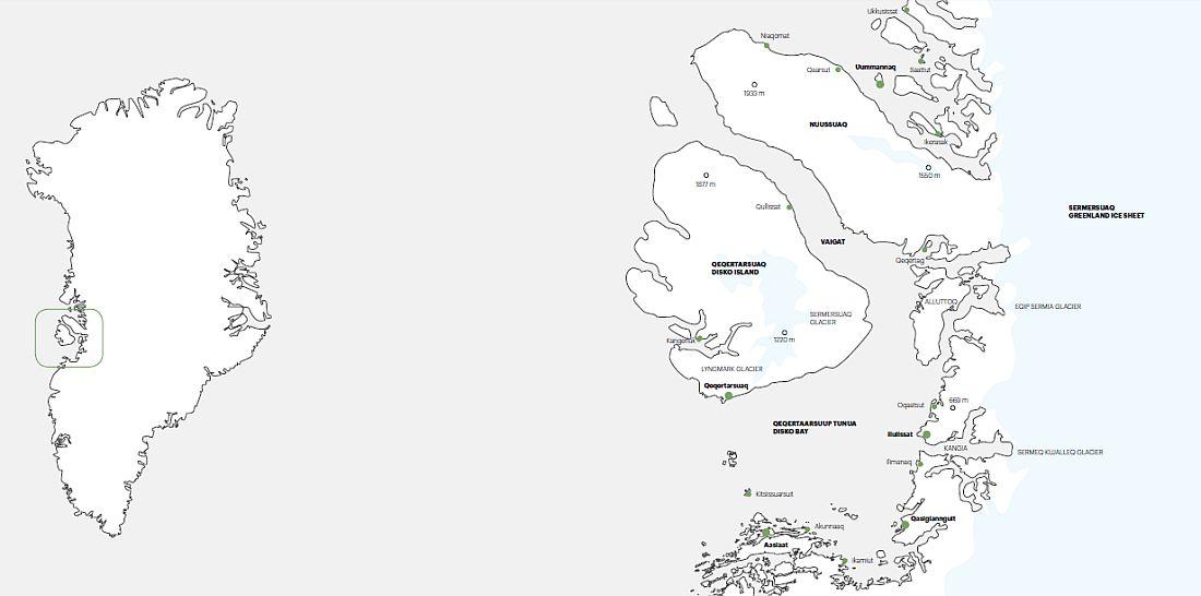 Map Disko Bay